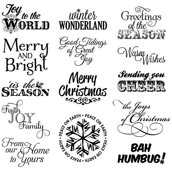 new 33 christmas verses for card making