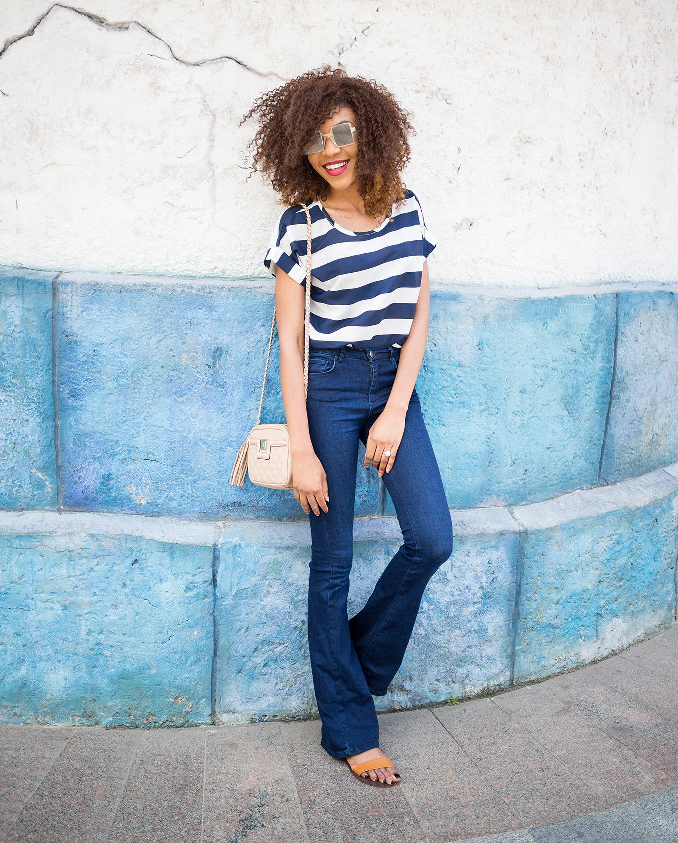 bold stripes outfit  casual style