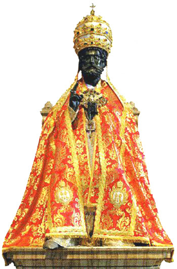 St Peter in pontifical vestments