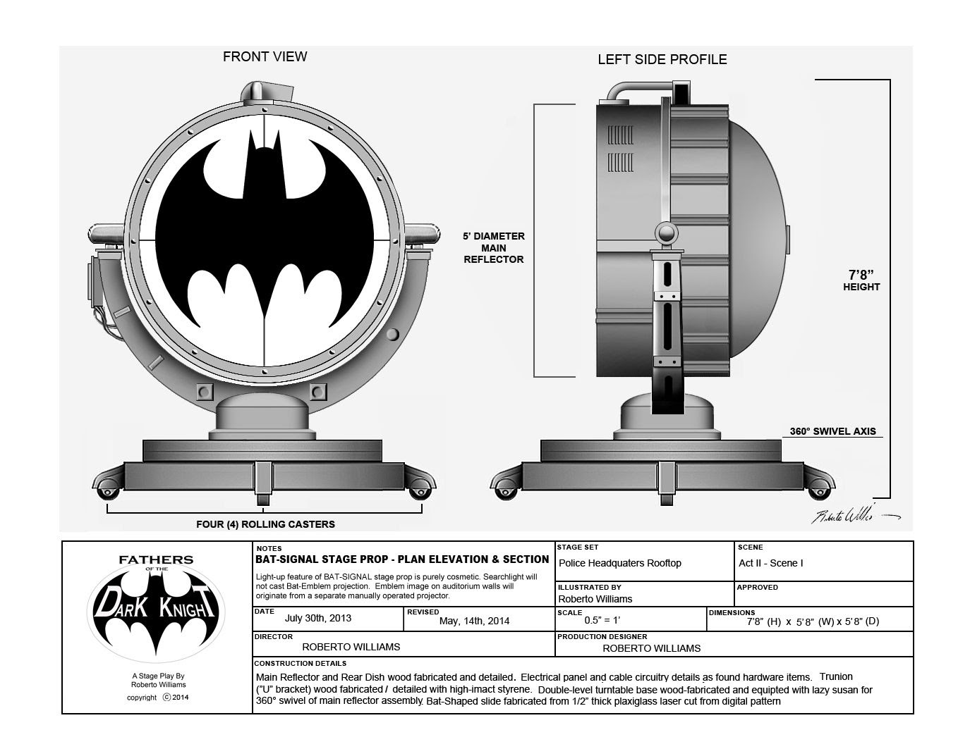 Building The Bat Signal A Full Scale Prop Rpf Costume And Prop