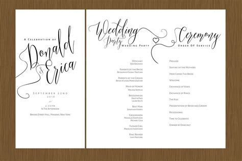 A Beautiful Wedding Program ? Detail Wedding Design