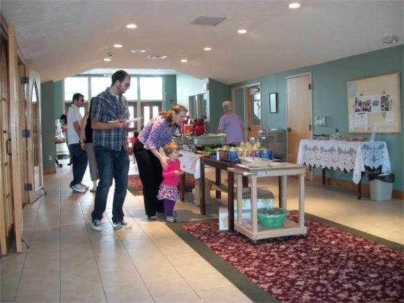 Buffet in church concourse