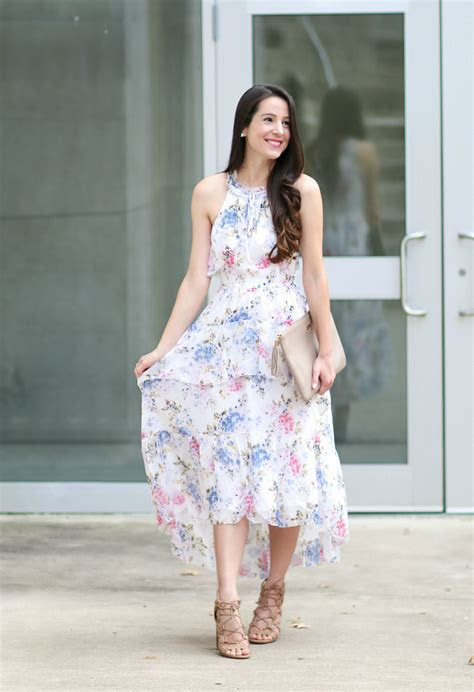 Wearing White to a Wedding: After Market Floral Chiffon