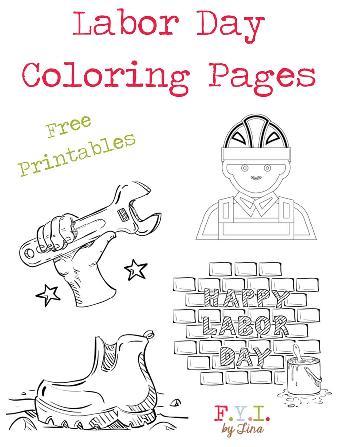 Labor Day Coloring Pages - Free Printable • FYI by Tina