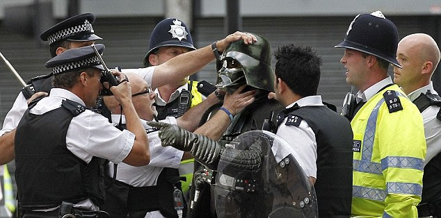May the police force be with you: Darth Vader has been up to no good