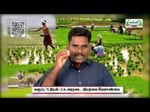 11th Tamil உரைநடை இயற்கை வேளாண்மை சுற்றுசூழல் இயல் 1 அலகு 1 Kalvi TV