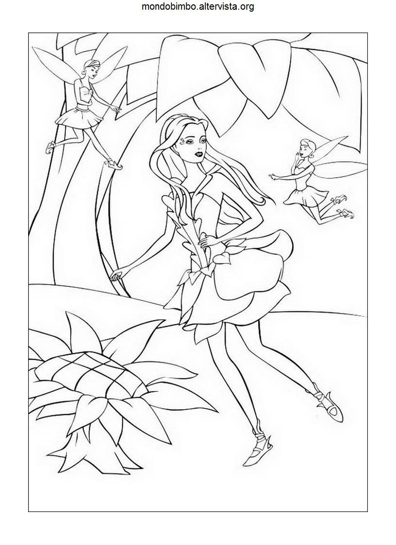 Disegni Barbie Fairytopia Da Colorare Mondo Bimbo