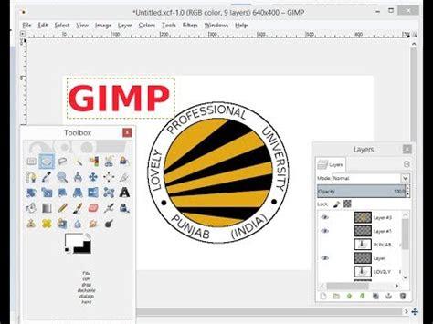 gimp tutorial design lpu logo youtube