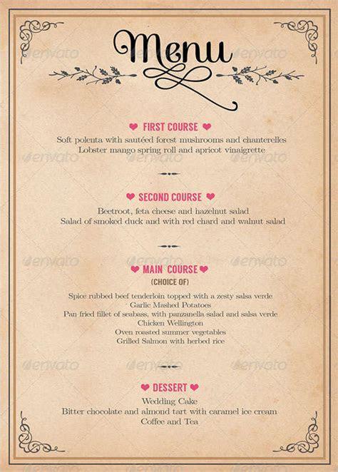 9  Wedding Party Menu   Designs, Templates   Free