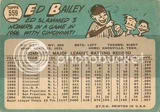 #559 Ed Bailey (back)