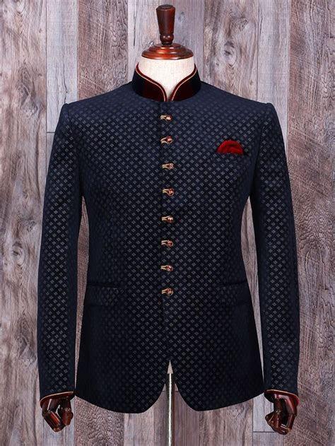 Shop Terry rayon navy wedding wear jodhpuri suit online