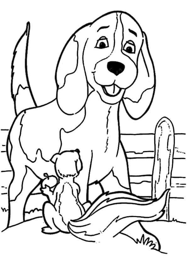 ausmalbilder hunde-10 | Ausmalbilder Malvorlagen