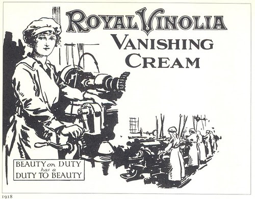 Royal Vinolia Vanishing Cream ad, 1918