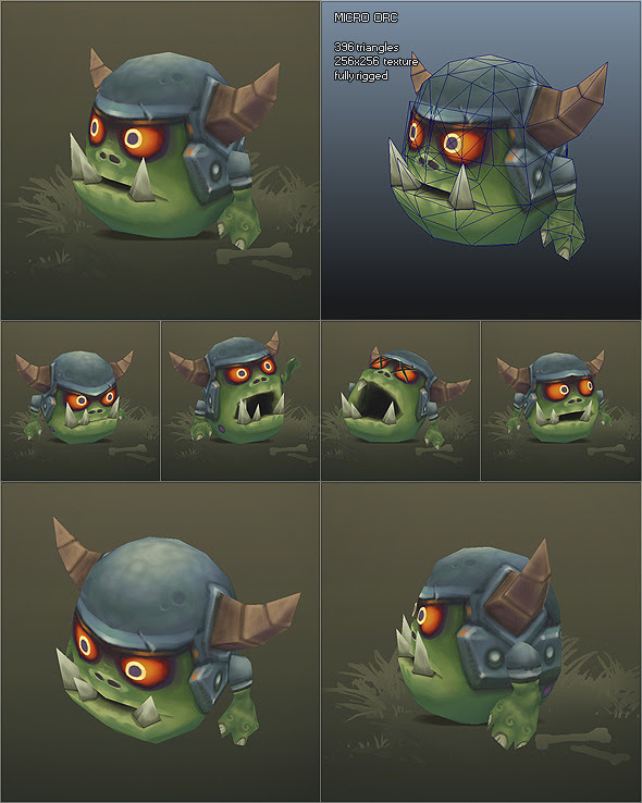 Low Poly Micro Orc Gronk 3DOcean -  Fantasy and Fiction  Monsters and Creatures 1718720 torrent