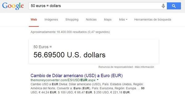 Conversor euros dólares