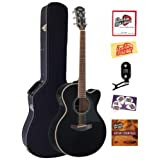 Yamaha CPX700 Cutaway Acoustic-Electric Guitar Bundle with Hardshell Case, Tuner, Instructional DVD, Strings,...
