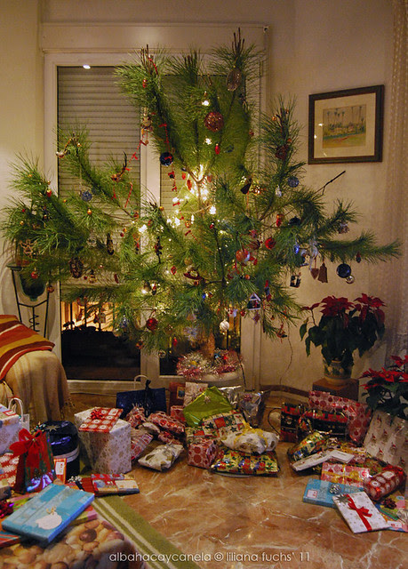 Presents under the Christmas tree