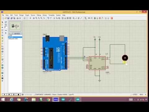 How to simulate DC motor with motor driver in proteus?