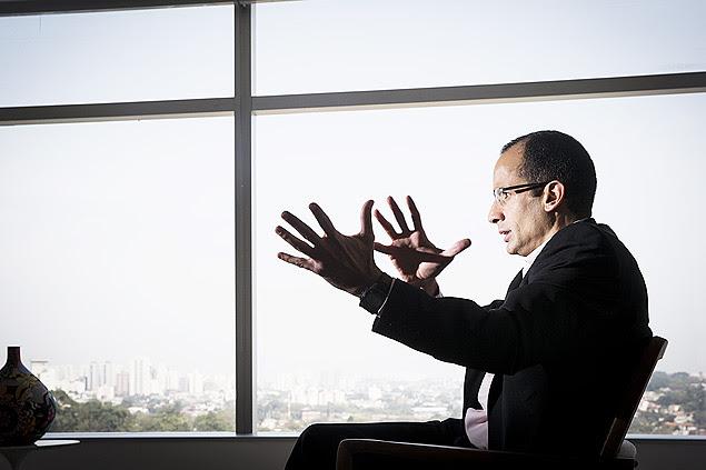 Marcelo Odebrecht em seu escritório, na zona oeste de São Paulo