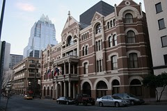 morning view of driskill hotel
