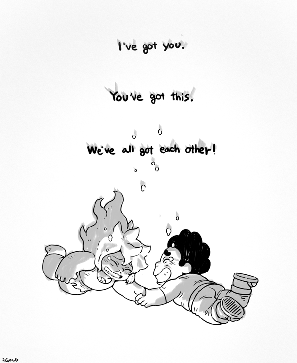 I like this picture. Actually, in this episode, I feel the ending inside Steven Universe.   *Use Tool