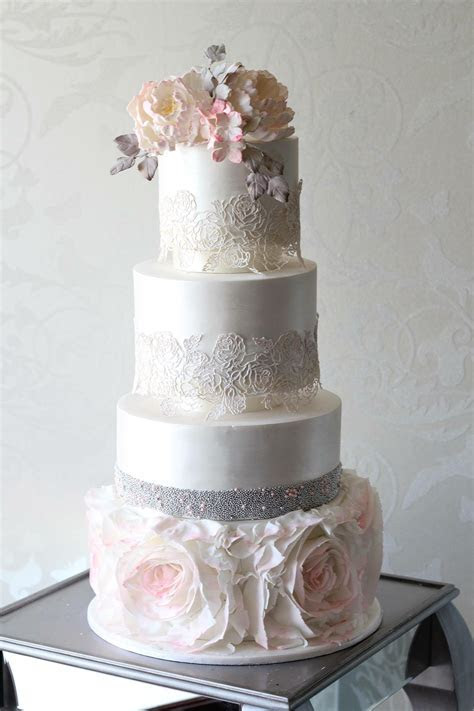 Silver Wedding Cakes   Vindya Cakes   Melbourne
