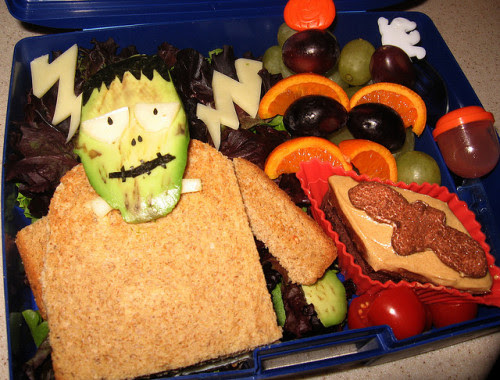 Frankenstein Bento Made of Avocado.