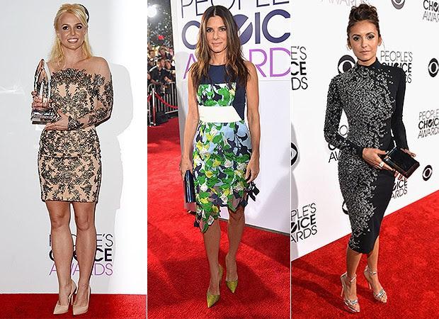 Britney Spears, Sandra Bullock e Nina Dobrev no People's Choice Awards  (Foto: AFP / Agência)