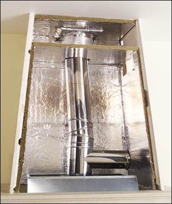 d coration de la maison habillage hotte cheminee. Black Bedroom Furniture Sets. Home Design Ideas