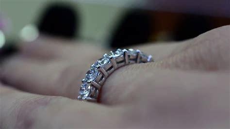 7 stone diamond wedding band ring   YouTube
