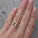 Rose Cut Champagne Diamond Hexagon Feather Ring   Kristin