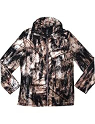 Fection  Animal Printed Jacket Black