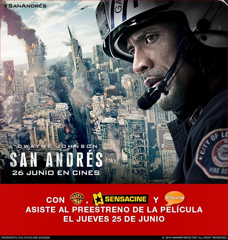 """Concurso: Preestreno """"San Andrés"""" en Sevilla"""