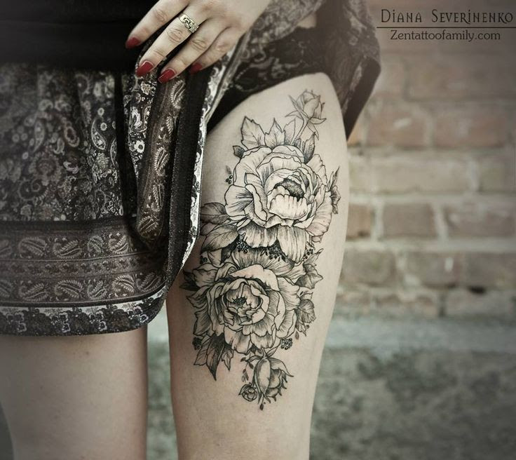 Flower Tattoos Black Stylish Ink Tattoomagz