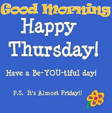 100 Good Morning Happy Thursday Images Pics Greetings Download