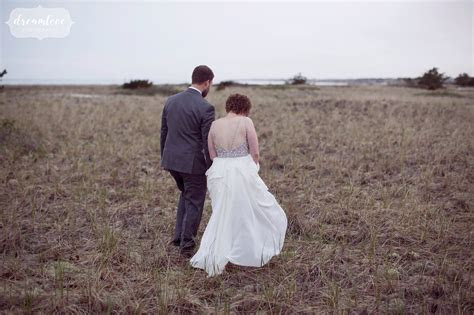 Natural Wychmere Wedding on Cape Cod with Colorful