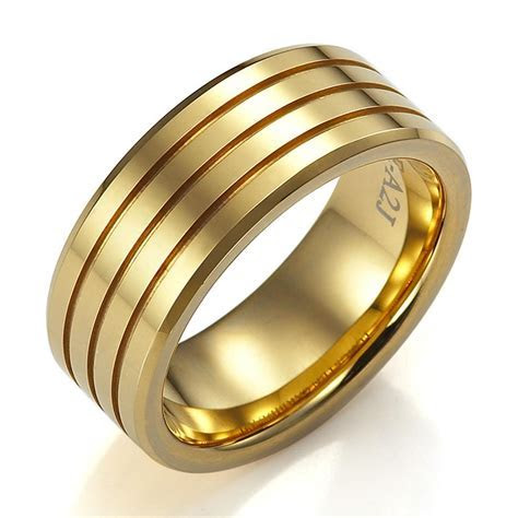 Cheap Men Gold Wedding Bands   Wedding and Bridal Inspiration