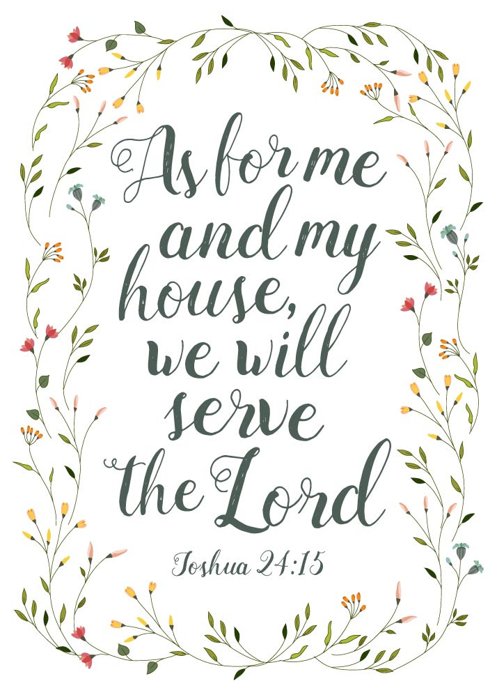 As For Me And My House We Will Serve The Lord Joshua 2415 Seeds