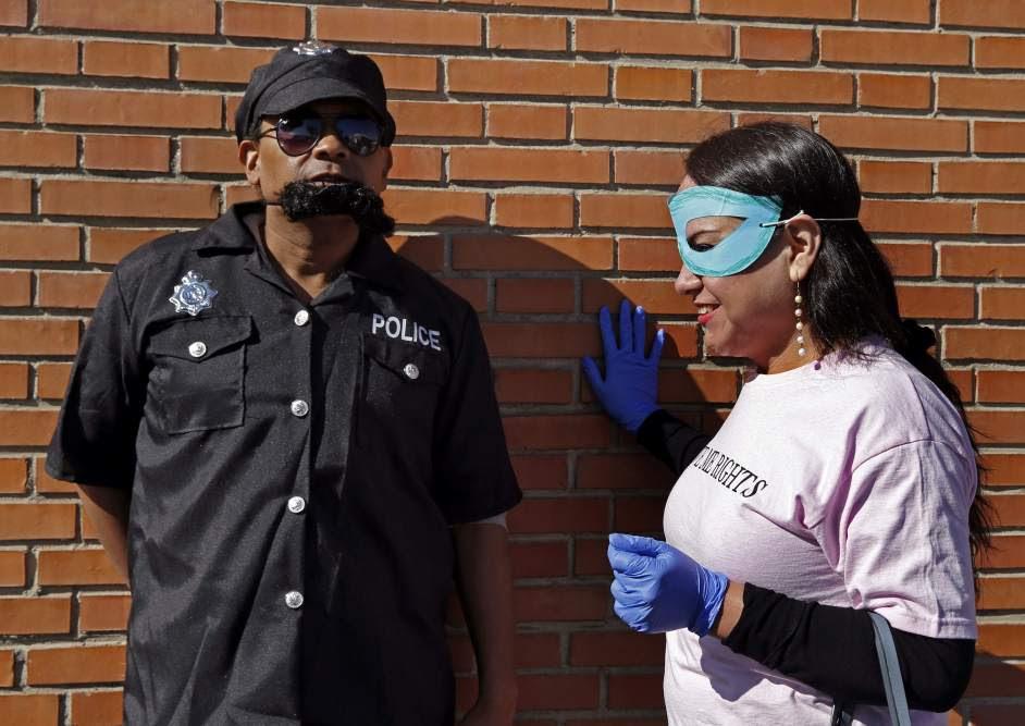 'Performance' de prostitutas en Madrid