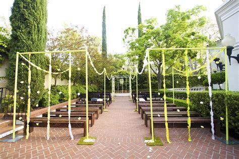whimsical garden wedding outdoor ceremony   OneWed.com