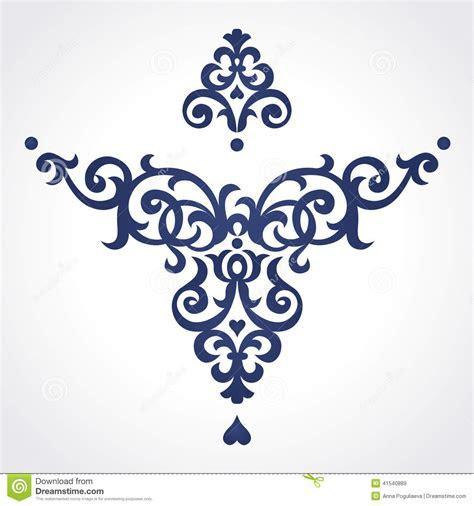 Vector Baroque Ornament In Victorian Style. Stock Vector