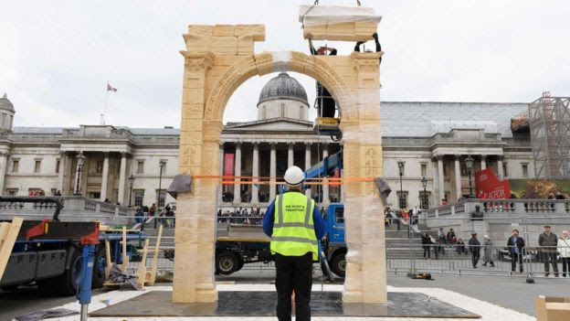 Arch Of Triumph Rises In London