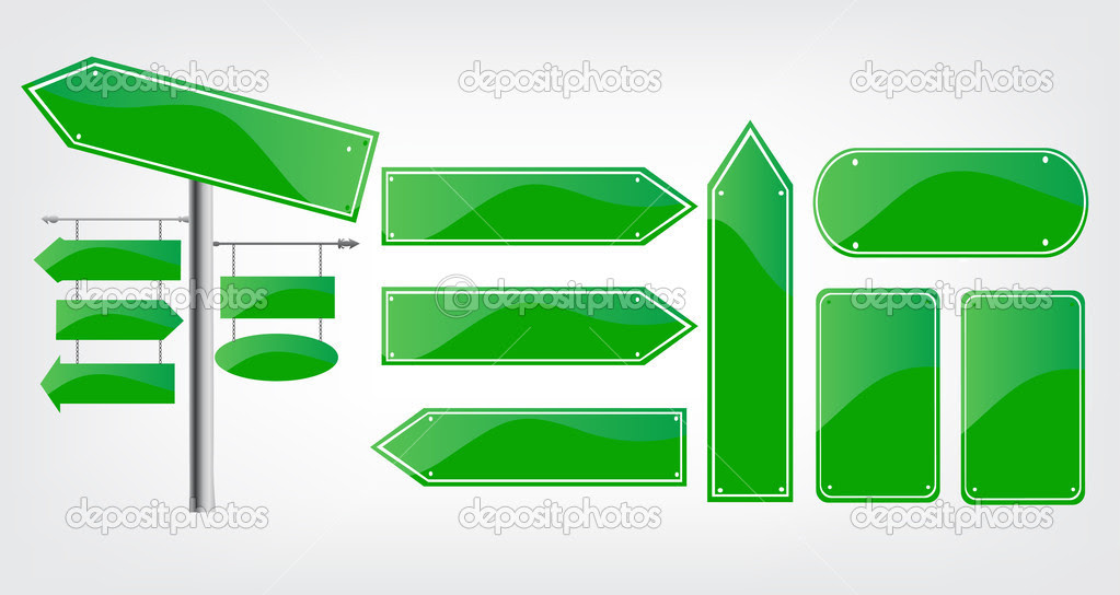 Editable street signs — Stock Vector © Robin2b #11592523