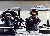 Michael Dukakis on tank