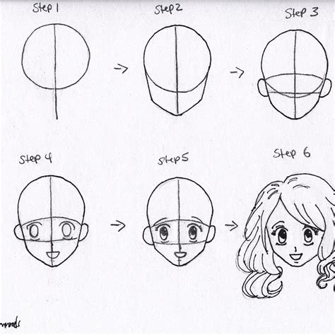 anime sketch step  step  paintingvalleycom explore