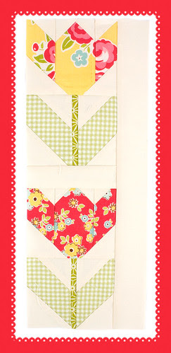 Spring Tulips in the Quilty Fun book by Lori Holt of Bee in my Bonnet