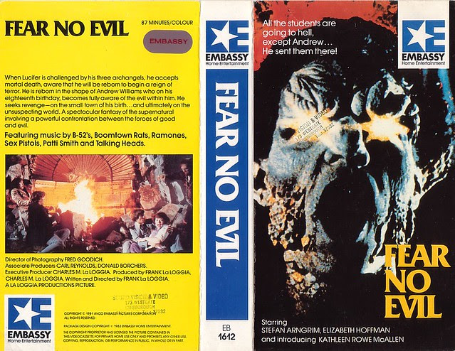 FEAR NO EVIL (VHS Box Art)