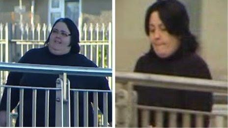 Roberta Vaughan-Owen (L) Andrea Vaughan Owen (R) at Caernarfon Crown Court