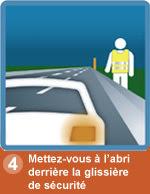 securite sur autoroute : glissière de sécurité