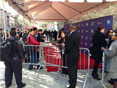The crowd outside the Tribeca Film Festival screening in Chelsea
